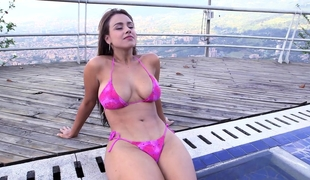 Curvy Colombian with thick phat a-hole and big tits