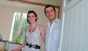 Pair goes to a casting for french porn